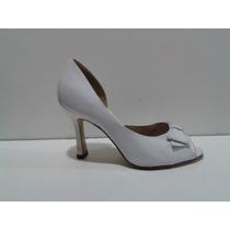 Zapatos Blancos De Charol Calandre 36