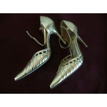 Zapatos Dorados De Fiesta!! Nº 40