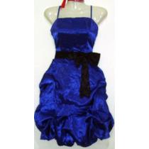 Vestido Fiesta Aglobado Rojo Y Azul Nuevo Talla M-l