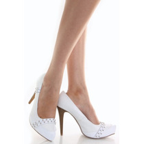 Lindo Zapato Blanco N°38,5 Importado Usa