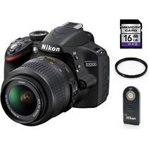 Nikon D3200 Lente 18-55mm Dx Vr + 16gb + C. Remoto + Filtro