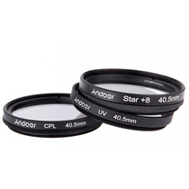 Kit Filtros 40.5 Mm Uv+clp+estrella -sony, Nikon Mirrorless