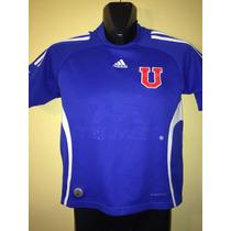 Camiseta U De Chile 2010, #17 Edu Vargas, Adidas, Talla 10a