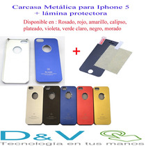 Carcasas Aluminio Para Iphone 4 Y 5 + Lámina Protectora !!!