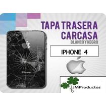 Tapa Trasera Original Iphone 4 Blanca / Negra, Instalada