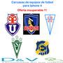 Carcasas De Equipos De Futbol Para Iphone 4, Oferta !!!