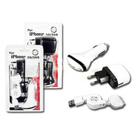 Kit De Cargadores 3 Para Iphone 4 3g 3gs Y Ipod Oferta