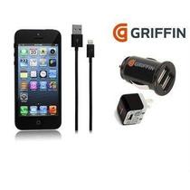 Kit Cargador Griffin 3 En1 Para Iphone 5/5s/5c 100% Original