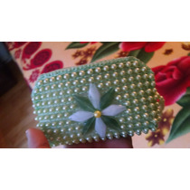 Cartera Mini Decorada A Mano Con Perla Y Flores 4 Colores