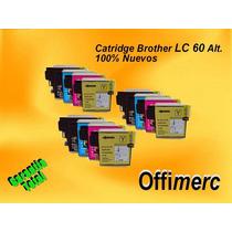 Cartuchos Brother Lc60 Nuevos Alt. Dcp-j125/j410/j220/j315