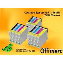 Catridge Epson 195-196 Alt. Xp101-xp201-xp401 Garantia Total