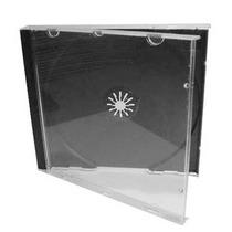 100 Caja Cd Gruesa 10.4 Mm Acrilico Transparente Y Bandeja