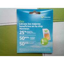 Chips Movistar Prepago 50min A Todas Las Compañias 50mb Nav.