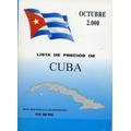 Catálogo Lista De Precios De Sellos Postales De Cuba, 2000.