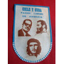 Banderin Visita Fidel Castro A Chile 1971