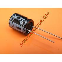 5x 5 Unidades 1000uf 16v Condensador Electrolitico