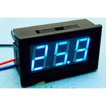 Voltimetro De Panel 0-30v, Color Azul, Arduino, Pic, Arm, Av