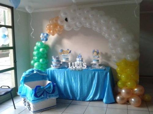 arreglos de globos para baby shower varon imagui