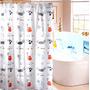 Cortina De Baño Hermoso Diseño Dibujos De Gato 180x180 Cms