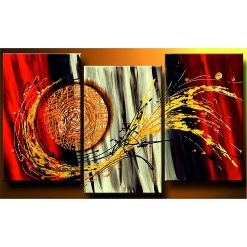 Cuadros abstractos modernos tripticos decorativos 45 000 for Cuadros religiosos modernos