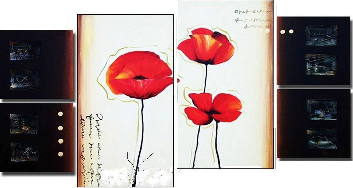 Cuadros flores modernos polipticos tripticos decorativos - Cuadro decorativos modernos ...