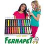 Tiza Temporal Color Hair Chalk Pelo Cabello Mechas 24 Unid.