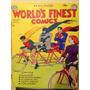 Cuadro Comics Robin, Batman Y Superman Bicicleta Superheroe