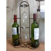 Vino -porta Copas Y Botellas