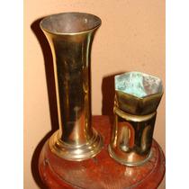 Antiguo Florero De Bronce 15 X10 Cms(solo Queda El + Pequeño