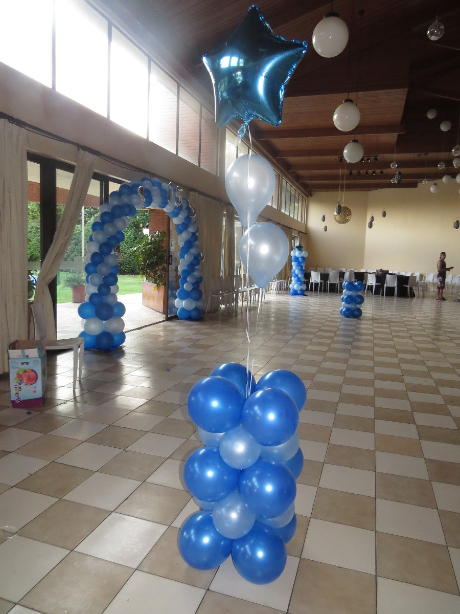 Decoracion de globos para baby shower hombre for Decoracion de globos para bautizo