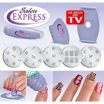 Set De Decoración De Uñas Salon Express Belleza Manicure