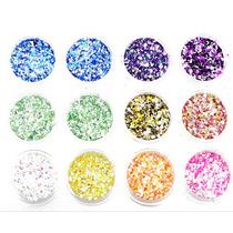 Set De 12 Glitters Para Decoración De Uñas- Varios Diseños !