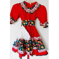 Vestido Cueca Niña Talla 6-8 $ 18.000