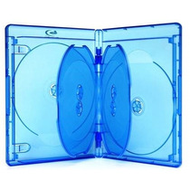 25 Cajas Blu-ray 21mm. Plastica Azul Para 6 Discos Blu-ray