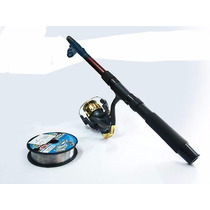 Caña Para Pescar 2.10m. + Carrete + 1 Hilos Nylon 0.34 100m.