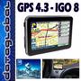 Gps 4.3 Touch Nuevos Igo 8 Mapas Chile Argentina Brazil