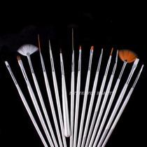 Nail Art : Set De 15 Pinceles Para Diseños De Uñas