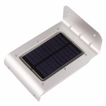 Lámpara Exterior 16 Leds Sensor Luz Y Movimiento Panel Solar