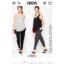 Pantalones Maternales Negro Y Blanco