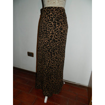 Falda Algodon Viscosa Animal Print