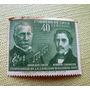 Antigua Estampilla Chilena 1947 - 40 Centavos