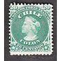 Estampilla Sello Antiguo 20 Centavos Verde Busto De Colon