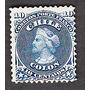 Estampilla Sello Antiguo 10 Centavos Azul Busto De Colon