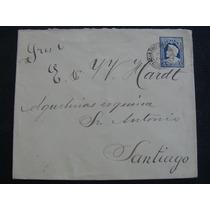 Carta Antigua Con Efigie De Colon Timbrada-chile