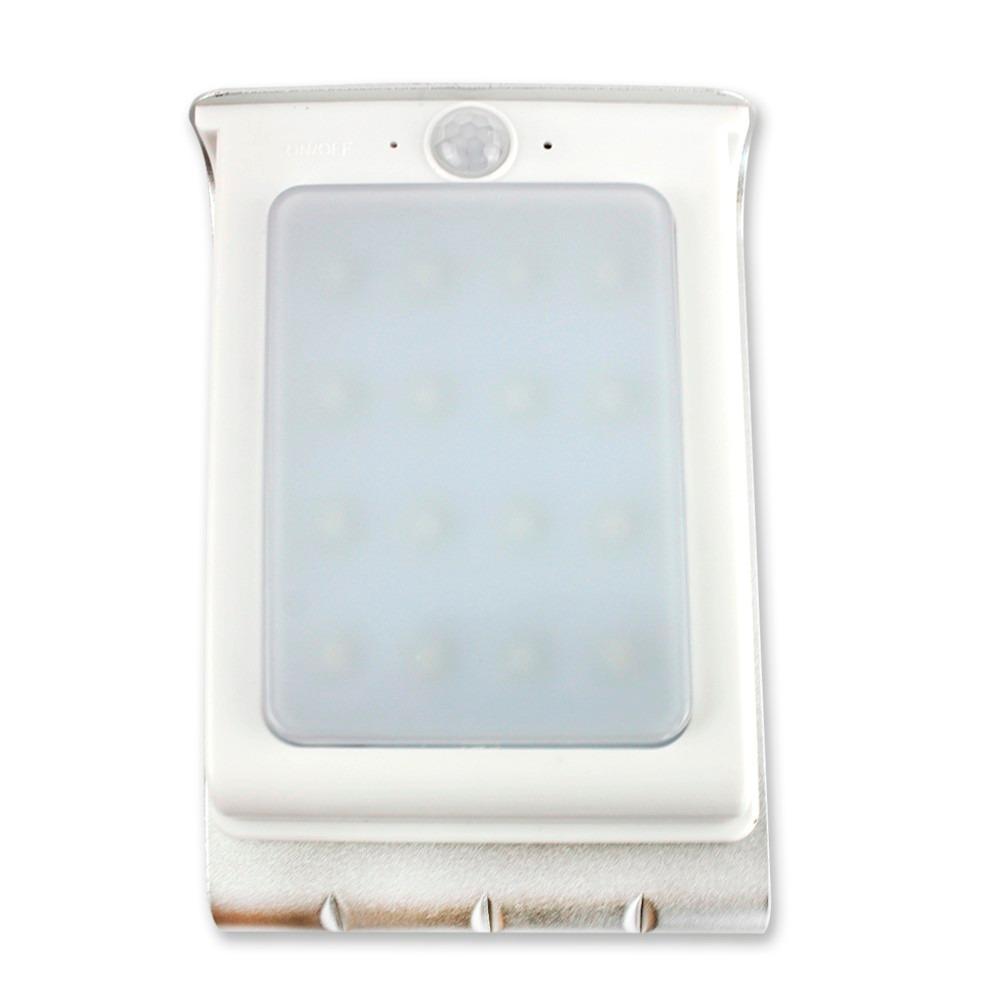 Foco 16 leds exterior sensor luz y movimiento panel solar - Luz sensor movimiento ...