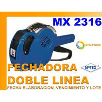 Etiquetadora Motex M-2316 Fecha Lote Elaboracion Vencimiento