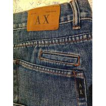 A   X Armani Short T- 50 Jeans Mezclilla Varón Originales
