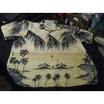 Camisa Guayabera Hawaiana Exclusiva Rjc Talla Xxl