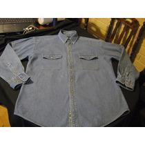 Camisa De Mesclilla Croft & Barrow Talla M Manga Larga