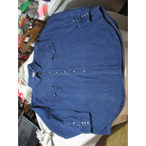 Camisa De Mesclilla Western Wear Talla Xxl Manga Larga
